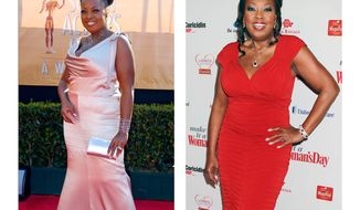 **FILE** This combo image made of file photos from Feb. 5, 2005 in Los Angeles (left) and Feb. 15, 2012 in New York shows TV personality Star Jones. (Associated Press)