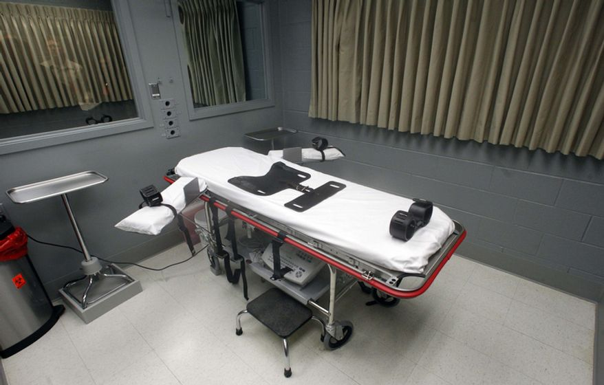 **FILE** The execution room at the Oregon State Penitentiary in Salem, Ore., is seen here on Nov. 18, 2011. (Associated Press)