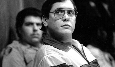 ** FILE ** Former Florida policeman Manuel Pardo, found guilty of nine counts of murder, listens as his sentence is read in 1998. (AP Photo/The Miami Herald, Marice Cohn Band)