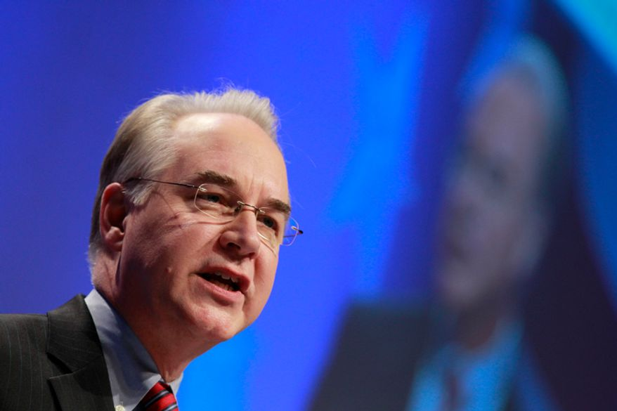 ** FILE ** Rep. Tom Price, Georgia Republican, speaks at the Conservative Political Action Conference (CPAC) in Washington on Feb. 11, 2011. (Associated Press)