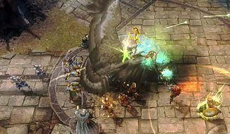 Conjur powerful creatures in the video game Guardians of Middle-earth.