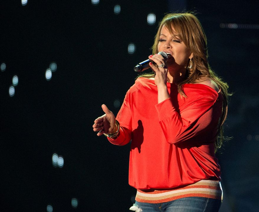 **FILE** Latin singer Jenni Rivera rehearses April 25, 2012, at the BankUnited Center in Coral Gables, Fla., for the 2012 Billboard Latin Music Awards. (Associated Press/Telemundo)
