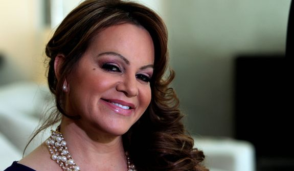 **FILE** Mexican-American singer and reality TV star Jenni Rivera poses March 8, 2012, during an interview in Los Angeles. (Associated Press)