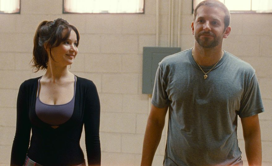 "Jennifer Lawrence and Bradley Cooper star in the film ""Silver Linings Playbook."" (AP Photo/The Weinstein Co., JoJo Whilden)"