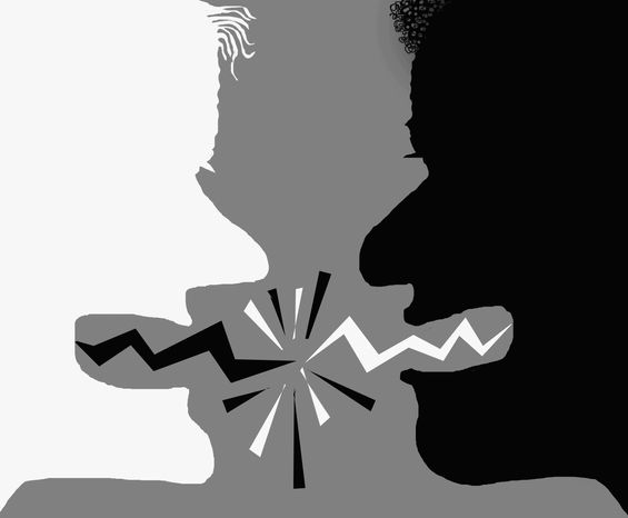 Illustration Race Relations by John Camejo for The Washington Times