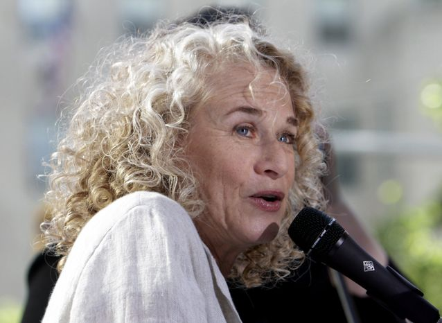 "**FILE** Singer-songwriter Carole King performs on NBC's ""Today"" show in New York in 2010. (Associated Press)"