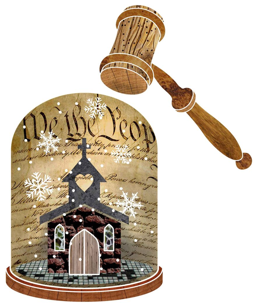 Illustration Church and Gavel by Greg Groesch for The Washington Times