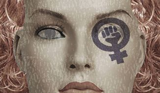 Illustration Radical Feminism by Alexander Hunter for The Washington Times