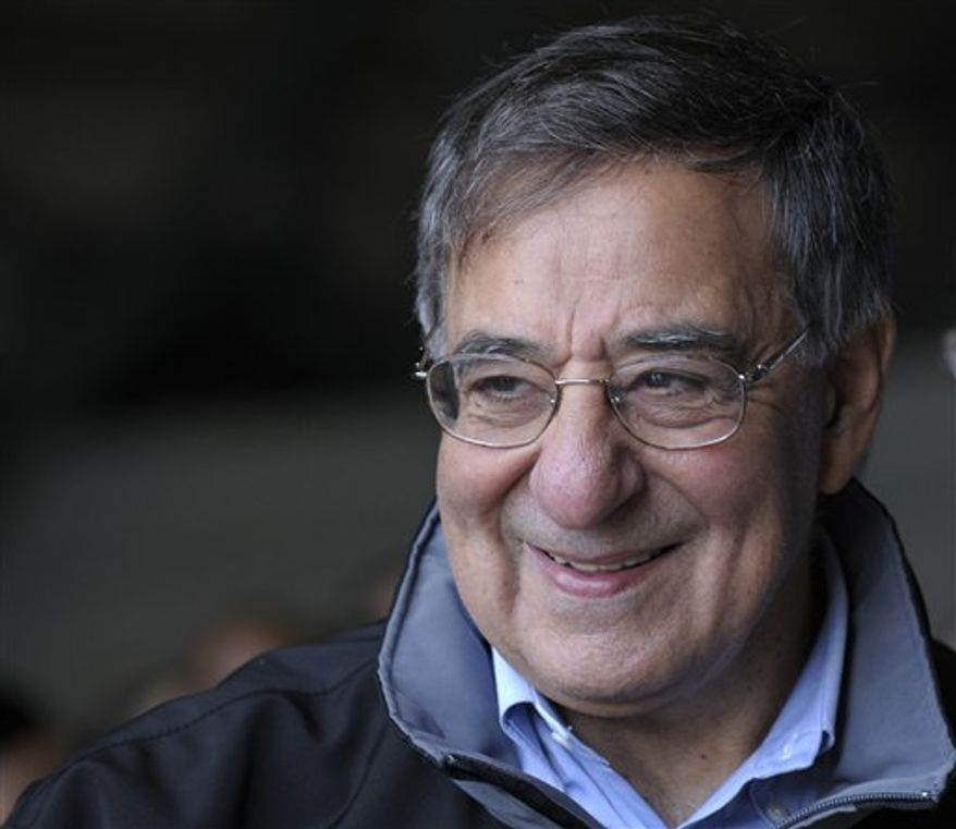 Defense Secretary Leon Panetta during a visit with troops at Incirlik Air Base, Turkey, Friday, Dec. 14, 2012. Panetta stopped to visit troops in Turkey before heading home after spending three days in Afghanistan.  (AP Photo/Susan Walsh, Pool)
