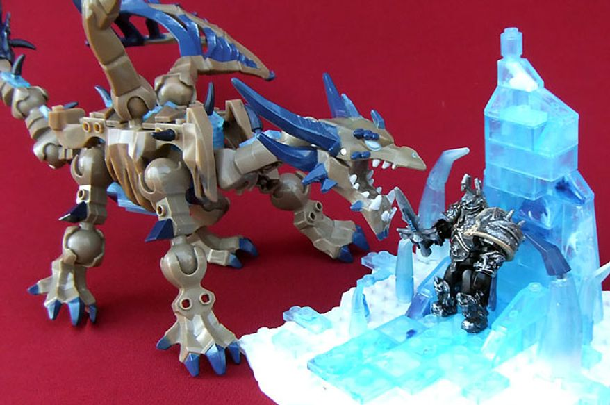 Mega Bloks' World of Warcraft: Arthas and Sindragosa makes a great gift for builders. (Photograph by Joseph Szadkowski)