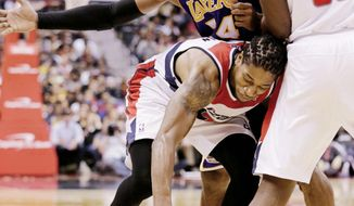 Washington hung tough against Kobe Bryant and the Los Angeles Lakers in a 102-96 loss Friday at Verizon Center. The next night, the Wizards suffered their worst loss of the season, 102-72 against the Miami Heat to drop to 3-18. (Associated Press)