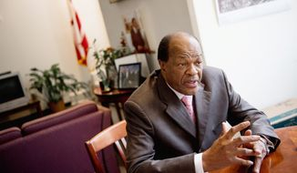 """""""I'm considered the most strategic, brilliant political strategist around — you've heard that,"""" D.C. Council member Marion Barry said in an interview. """"And I've done that because I know how to say certain things when I say them, don't say them."""" (Andrew Harnik/The Washington Times)"""