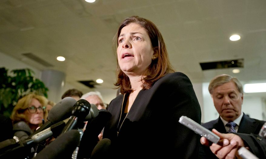 Sen. Kelly Ayotte, New Hampshire Republican, and Sen. Lindsey Graham, South Carolina Republican, have been vocal opponents about the narrative of the Obama administration in the wake of the Sept. 11 attacks on the consulate in Libya. (Associated Press)