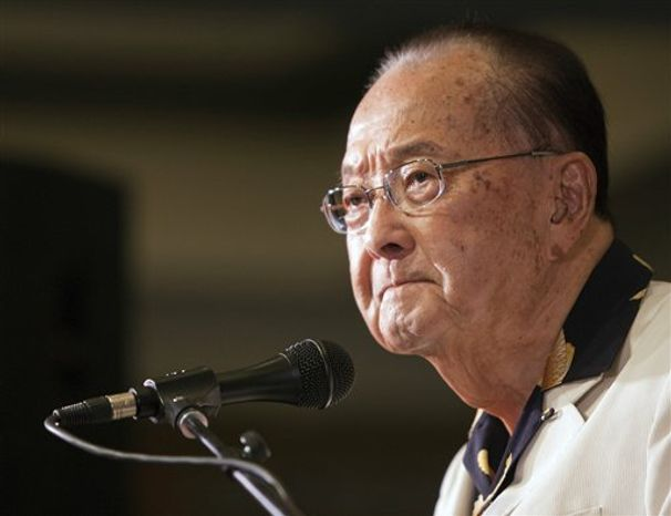 ** FILE ** In this Nov. 6, 2012 photo, U.S. Sen. Daniel Inouye speaks at the Japanese Cultural Center in Honolulu. Inouye, 88, died Monday, Dec. 17, of respiratory complications. (AP Photo/Marco Garcia, File)