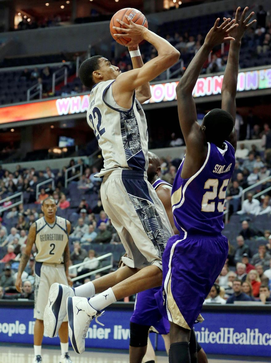 ASSOCIATED PRESS  Sophomore forward Otto Porter has the capability of carrying Georgetown despite a quiet demeanor on and off the court.