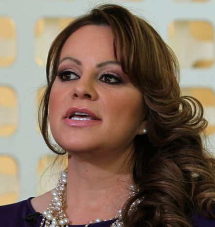 The life of Jenni Rivera, who died in a plane crash Dec. 9, was celebrated Wednesday at a memorial service. (Associated Press)