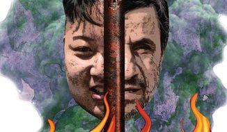 Illustration North Korea's Nuke by Greg Groesch for The Washington Times