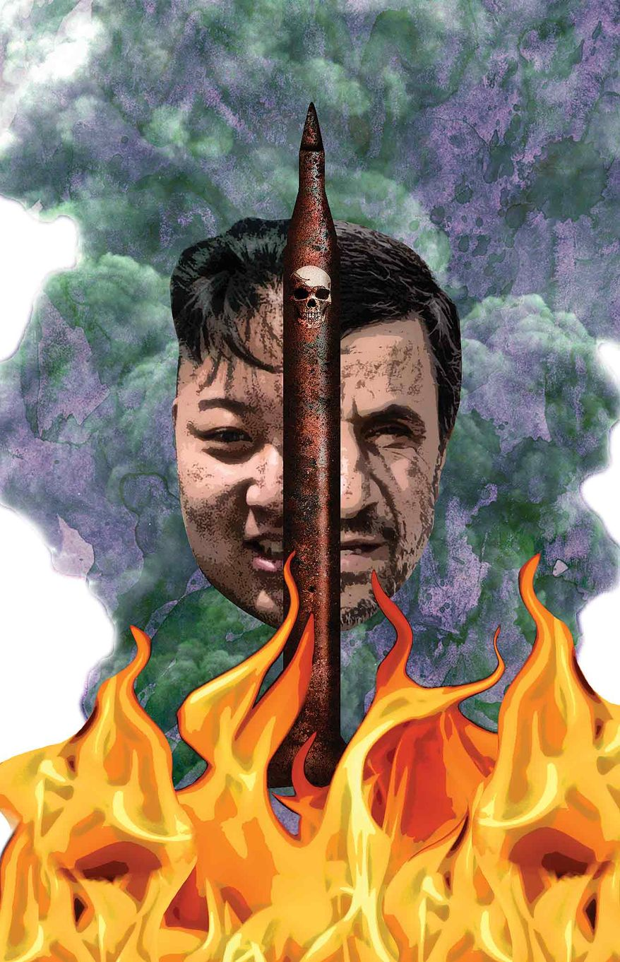 Illustration North Korea's Nuke by Greg Groesch for The Washington Times