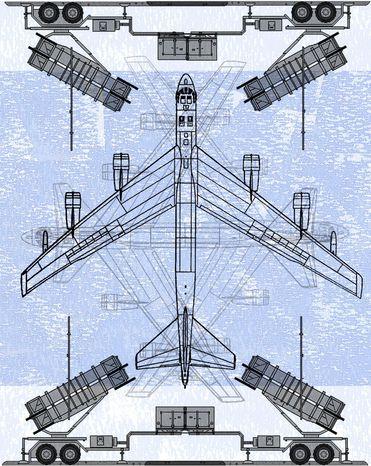 Illustration Patriot Missile System by Alexander Hunter for The Washington Times