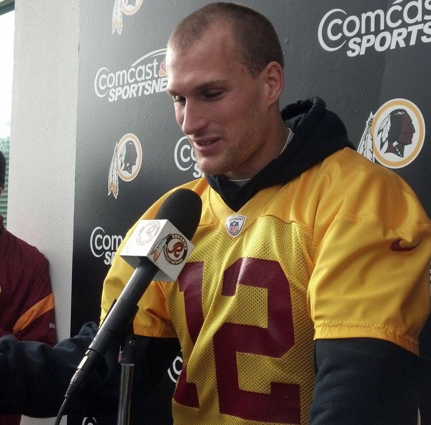 Kirk Cousins' new haircut (Rich Campbell / The Washington Times)