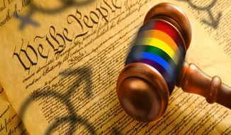 Illustration Judicial Activism by John Camejo for The Washington Times