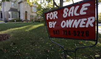 A house in Glenview, Ill., is for sale by the owner on Wednesday, Oct. 10, 2012. (AP Photo/Nam Y. Huh)