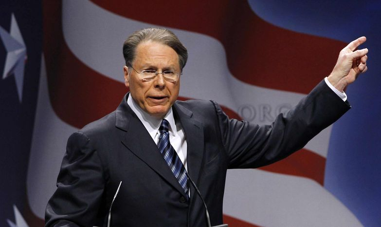 Wayne LaPierre is executive vice president and CEO of the National Rifle Association. (AP Photo/Alex Brandon)