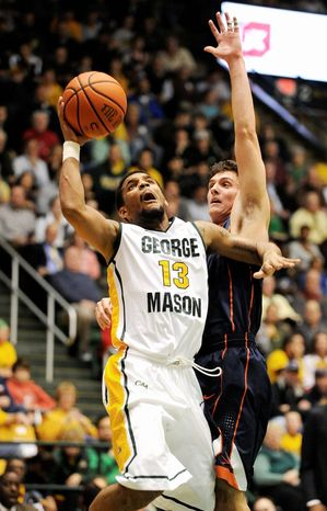 Seven of the turnovers GMU committed Saturday came in the 12 minutes Corey Edwards was on the bench. (Associated Press)
