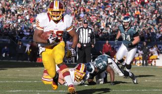 Alfred Morris has rushed for 178 yards and three touchdowns on 49 carries in the past two games, when quarterback Robert Griffin III was sidelined or limited. (Preston Keres/Special to The Washington Times)