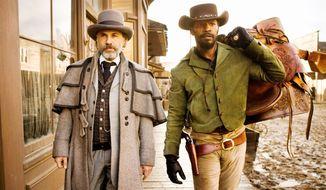 "Oscar-winning actors Jamie Foxx (right) and Christoph Waltz form a bounty-hunting team in writer-director Quentin Tarantino's Oscar-winning ""Django Unchained."" (The Weinstein Co.)"