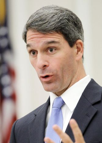 Virginia Attorney General Kenneth T. Cuccinelli II is the all-but-certain GOP nominee for governor in the 2013 election. (Associated Press)