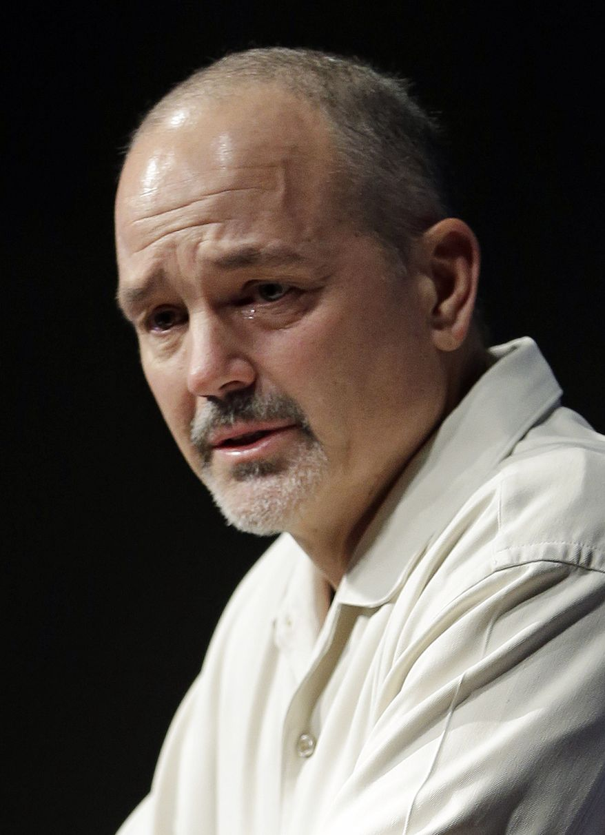 Indianapolis Colts head coach Chuck Pagano speaks during a news conference Monday, Dec. 24, 2012, in Indianapolis. Pagano returns to the team after undergoing successful leukemia treatment. (AP Photo/Darron Cummings)