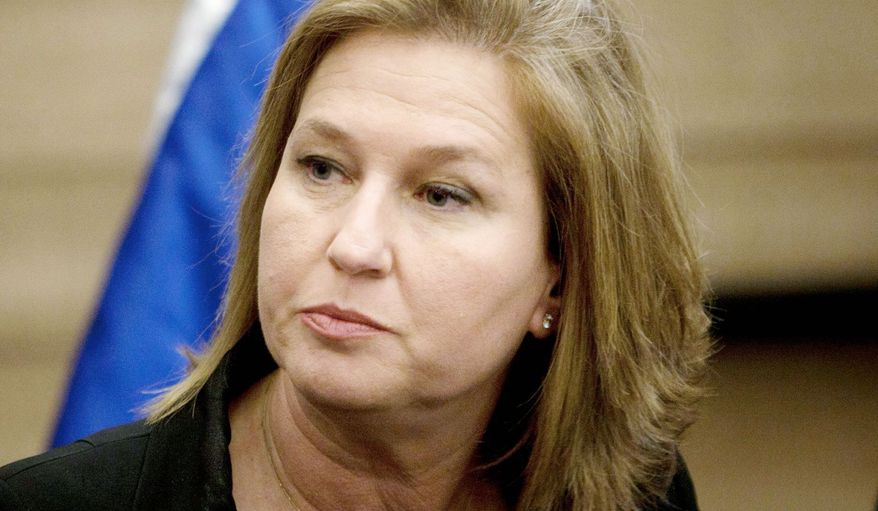 Former Israeli Foreign Minister Tzipi Livni has re-entered the fray, attacking Mr. Netanyahu on the Palestinian issue and calling for a new peace push. (Associated Press)