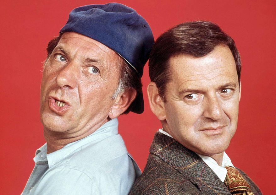 Jack Klugman (left) and Tony Randall (AP photo)