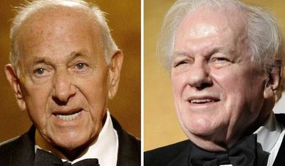 """Jack Klugman (left) and Charles Durning both built catalogs of roles that classed them indisputably as """"character actors."""" Both men died Monday. (Associated Press)"""