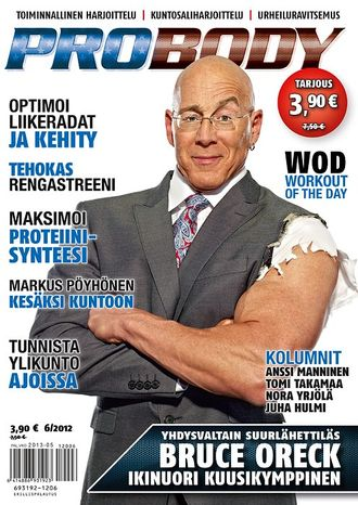 Bruce Oreck, the U.S. ambassador to Finland, appears on the cover of Probody, a Finnish fitness magazine, in November. (Image from Probody)