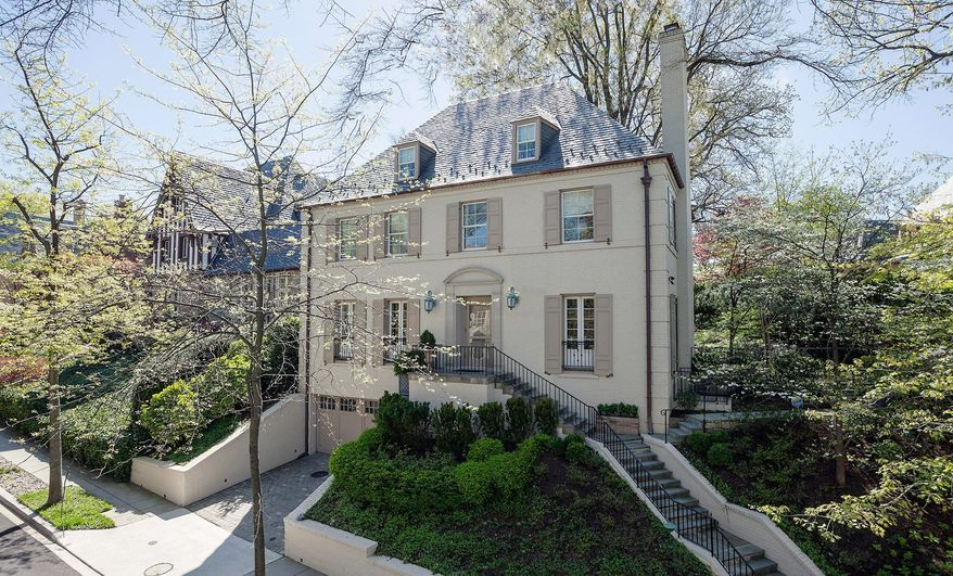 The home at 2424 Kalorama Road NW is on the market for $5,425,000. The home was built in 1936 and was remodeled and expanded in 2010.