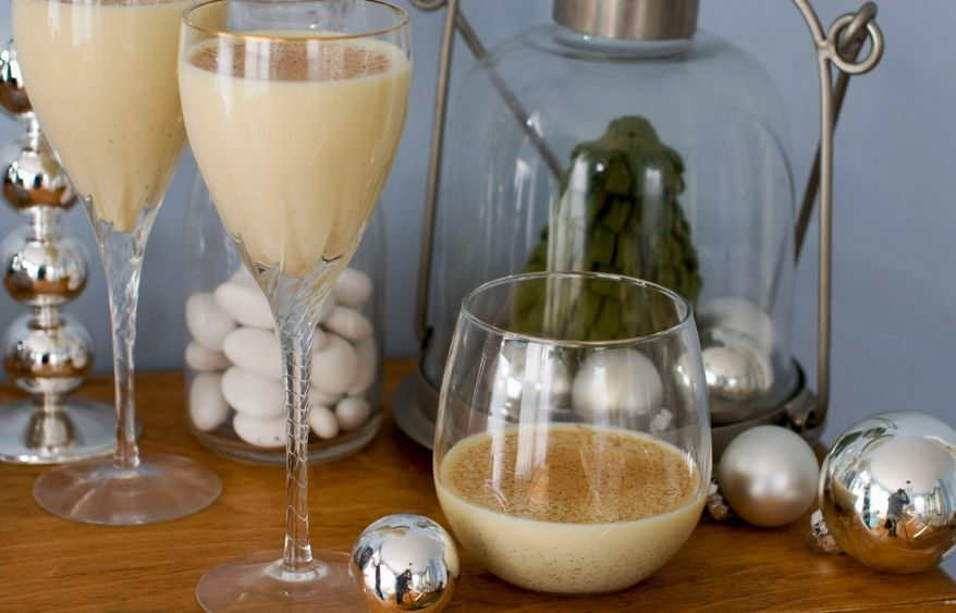 Eggnog made with 2 percent milk can be satisfyingly creamy, and the addition of chai spices works well with the traditional nutmeg garnish. (Associated Press)