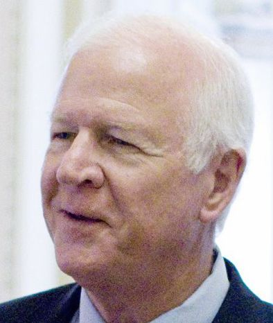 Sen. Saxby Chambliss, Georgia Republican, one of the so-called Gang of 6, outside of the Senate Chamber, on Capitol Hill in Washington on Wednesday, July 20, 2011. (AP Photo/Harry Hamburg)