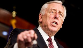 House Minority Whip Steny H. Hoyer, Maryland Democrat, holds a press conference at the U.S. Capitol in Washington on Thursday, Dec. 27, 2012, to call on House Speaker John A. Boehner, Ohio Republican, to bring the House back into session immediately to work on the fiscal cliff. (Andrew Harnik/The Washington Times) ** FILE **