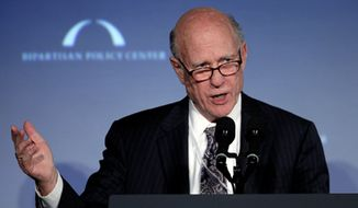 "** FILE ** Sen. Pat Roberts, Kansas Republican, sings a song at ""A Century of Service"" honoring former U.S. Senate Majority Leaders  Bob Dole and Howard Baker at Mellon Auditorium, Wednesday, March 21, 2012, in Washington. (AP Photo/Carolyn Kaster)"