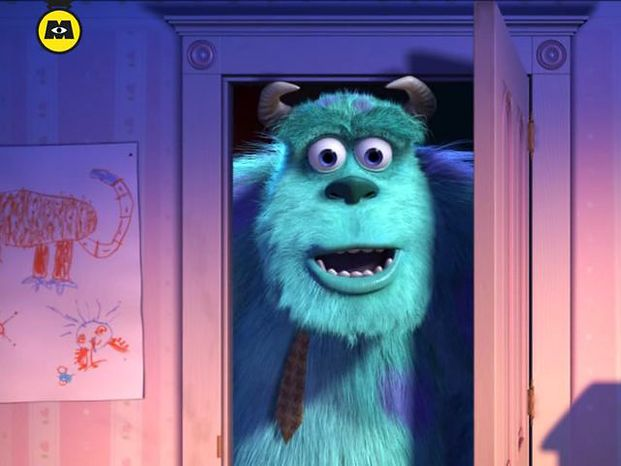 The iPad interactive book Monsters, Inc. Storybook Deluxe features movie clips from the Disney/Pixar animated film.