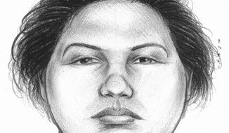 In this image provided by the New York City Police Department, a composite sketch showing the woman believed to have pushed a man to his death in front of a subway train on Thursday, Dec. 27, 2012, is shown. Police arrested Erika Menendez on Saturday, Dec. 29, 2012, after a passer-by on a street noticed she resembled the woman seen in a surveillance video. (AP Photo/New York City Police Department)