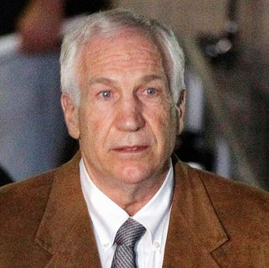 Former Penn State assistant football coach Jerry Sandusky was convicted of multiple sexual assaults. (Associated Press)