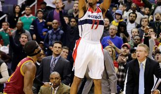 Guard Garrett Temple totaled eight points, nine rebounds and five assists while leading the Wizards in minutes in Saturday's 87-77 loss at Chicago.(Associated Press)