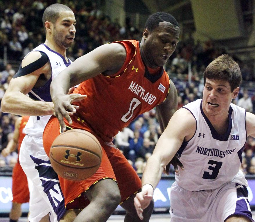 Maryland routed Delaware State 79-50 on Sunday, a game in which power forward Charles Mitchell scored 19 points and notched 14 rebounds. (AP Photo/Charles Rex Arbogast)