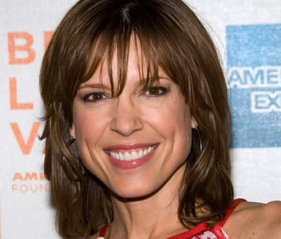 """ESPN anchor Hannah Storm attends the premiere of """"Straight Outta L.A."""" at the Tribeca Film Festival in New York on Friday, April 23, 2010. (AP Photo/Charles Sykes)"""