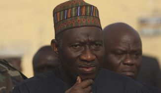 **FILE** Nigerian President Goodluck Jonathan (Associated Press)