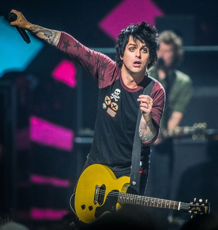Billie Joe Armstrong of Green Day performs at the iHeart Radio Music Festival at the MGM Grand Arena in Las Vegas on Friday, Sept. 21, 2012. (Eric Reed/Invision/AP)
