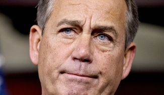 **FILE** House Speaker John A. Boehner, Ohio Republican (Associated Press)